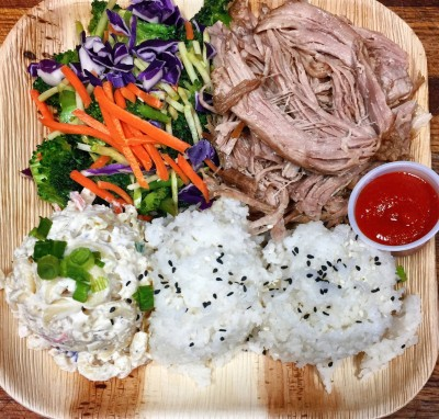 Traditional Kalua Pork bento with Veggies